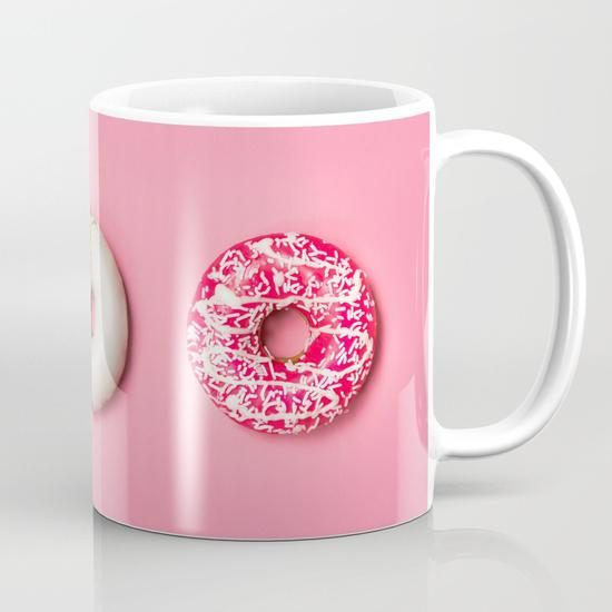 Birthday Collection: Pink Donuts Coffee Mug Doughnuts Ceramic