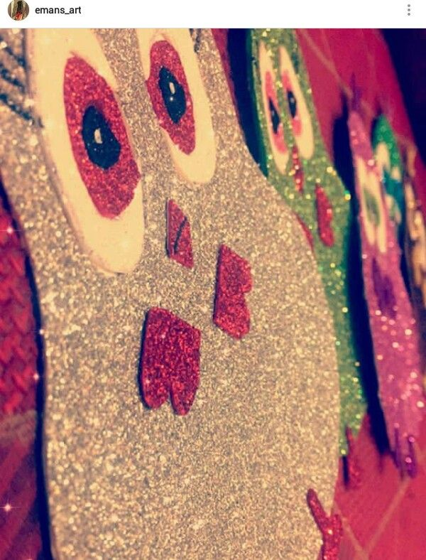 Angry bird babies made by me with PVA glitter sheets #emans_art