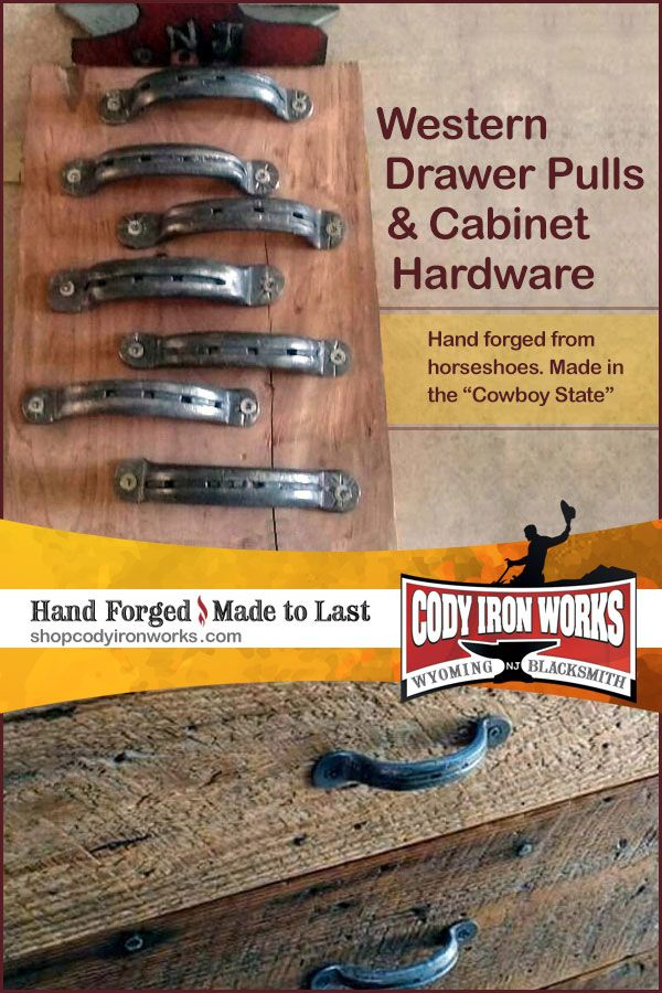 Western Drawer Pulls Cabinet Hardware Hand Forged From