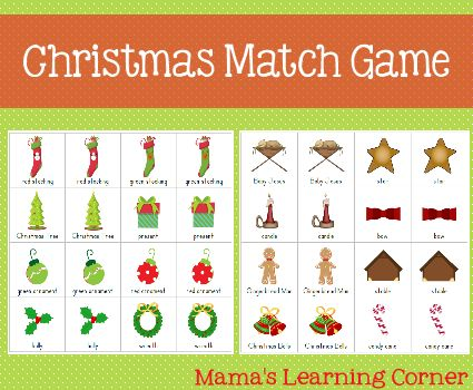Christmas Match Game from Mama's Learning Corner