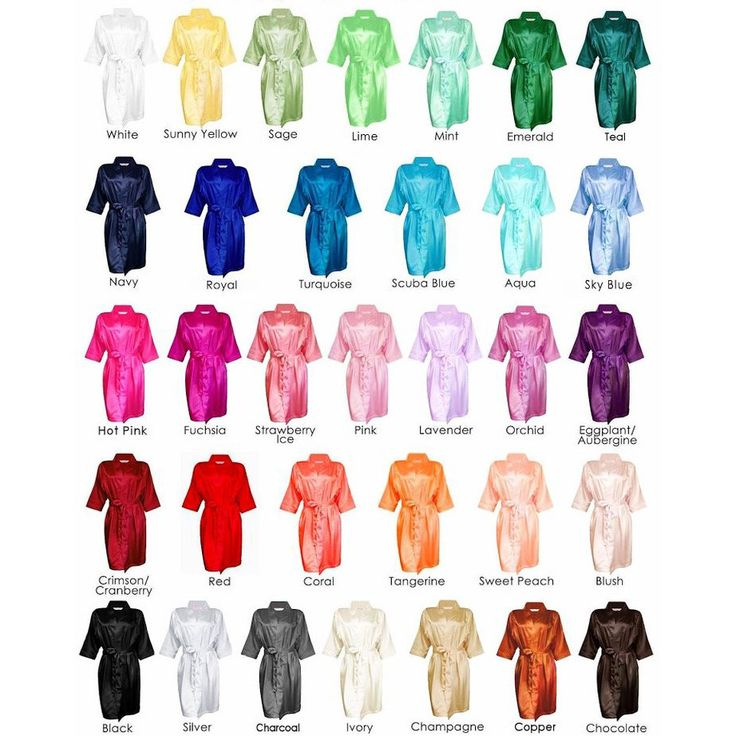 Satin Robe #bridal-party-robes #bridal-robes #bridesmaid-robes
