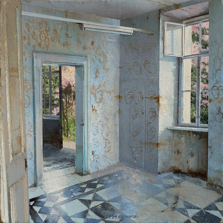 Matteo Massagrande, Primavera, 2016, mixed media on board, 15 x 15 cm #contemporary #art #painting