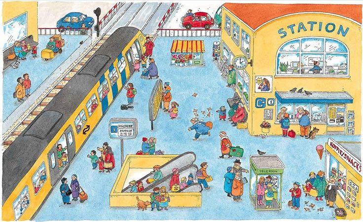 Describing a Train Station.