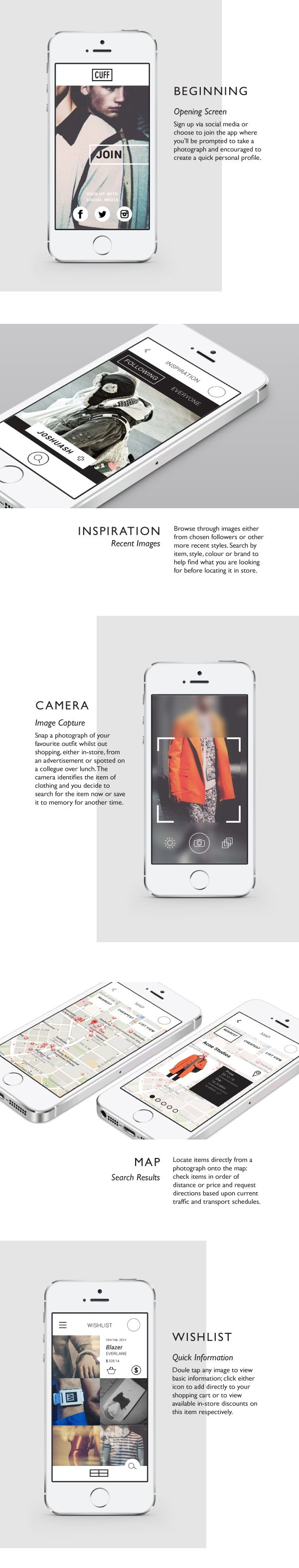 CUFF - Mobile App Concept #Buick #Rvinyl http://www.rvinyl.com/Buick-Accessories.html