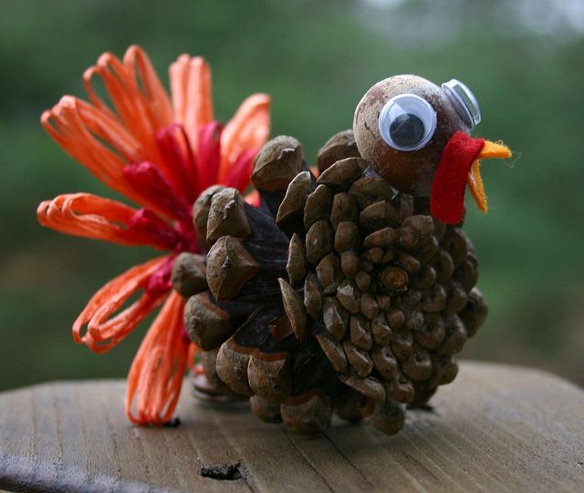 another little pinecone turkey by twinfibers, via Flickr