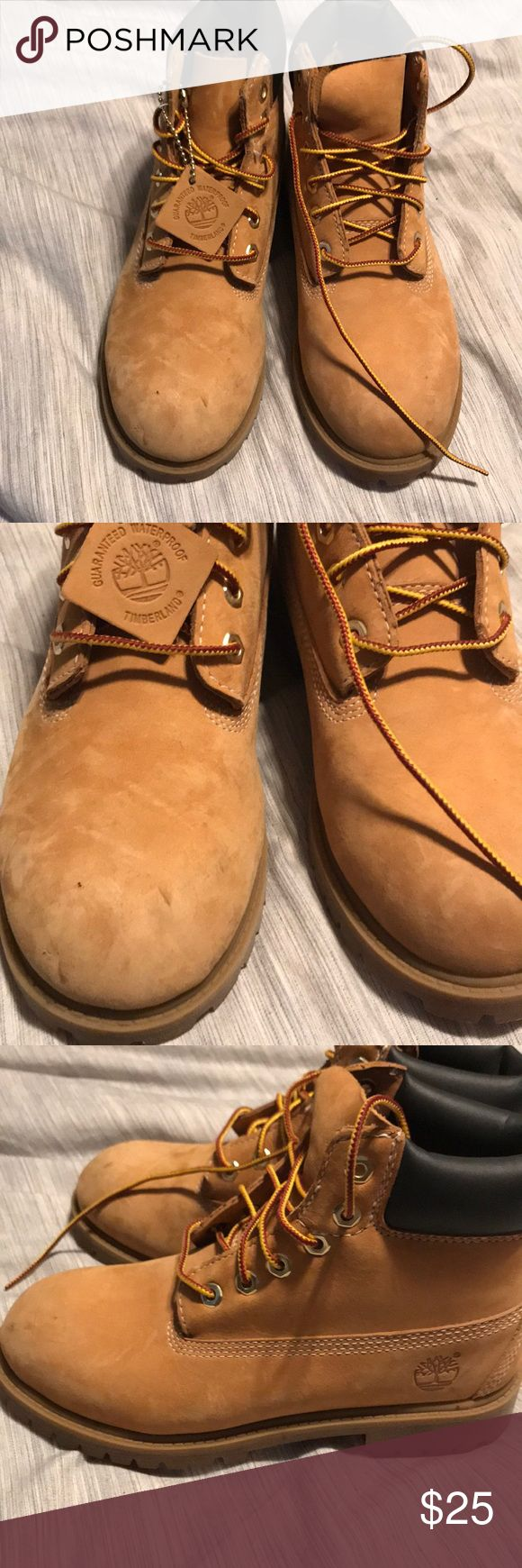 Youth Timberland Boots Classic water proof timbs! Worn once! Timberland Shoes