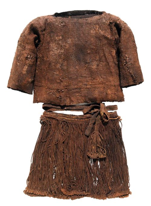 Bronze Age clothing belonging to a girl whose remains were discovered in a barrow in Egtved, Denmark. (source: Patty Blevens)