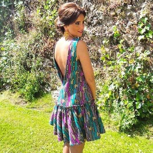 *Consigue el Look* Perfecta María Ruisánchez con el VESTIDO de fiesta escotado en la espalda! Un look de 10 para un evento importante  AQUÍ > http://www.colettemoda.com/producto/vestido-con-volante/ #colettepalencia #fiesta #moda #outfit