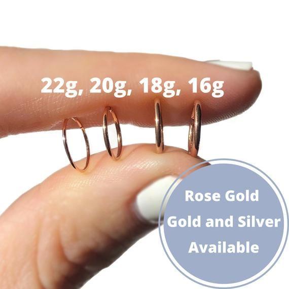 Simple Nose Ring Hoop Earring Helix Septum Tragus Cartilage