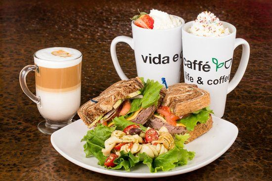 Fresh and Healthy meals with a cup of best coffee