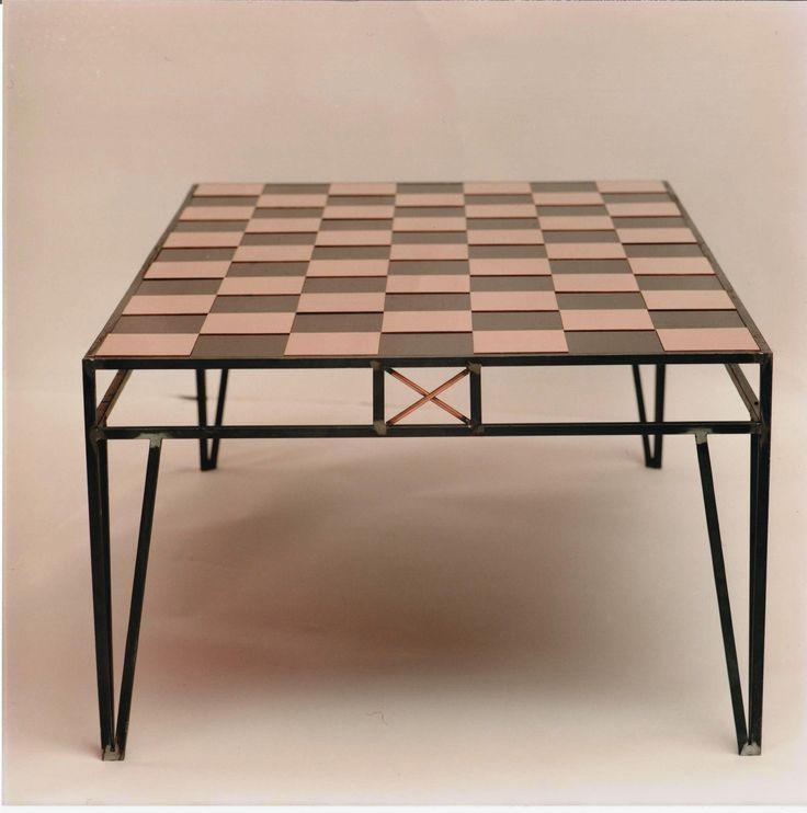 bord med kobberplader