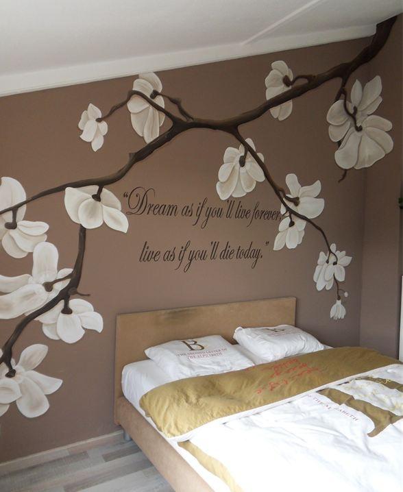 Meer dan 1000 idee n over bloemen tekening op pinterest tekeningen kunst en schilderijen - Slaapkamer decoratie volwassenen ...
