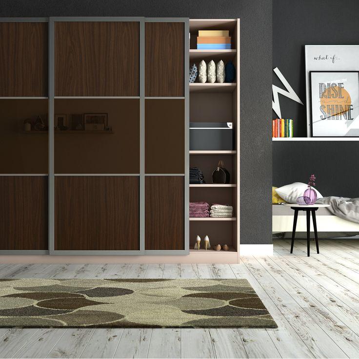 Modular wardrobe with a zen facade