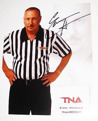 TNA WWE EARL HEBNER P-42 HAND SIGNED 8X10 PROMO PHOTO WITH COA