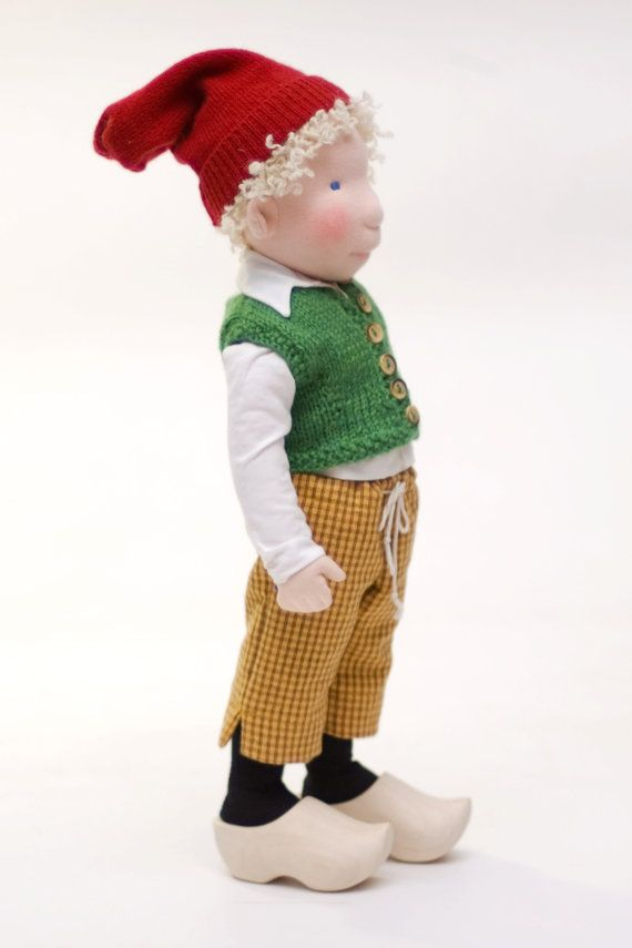 Nils Holgerson / cloth doll by AldegondeCeelen on Etsy