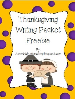 {freebie} Thanksgiving writing fun!