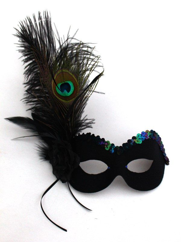 black peacock mask