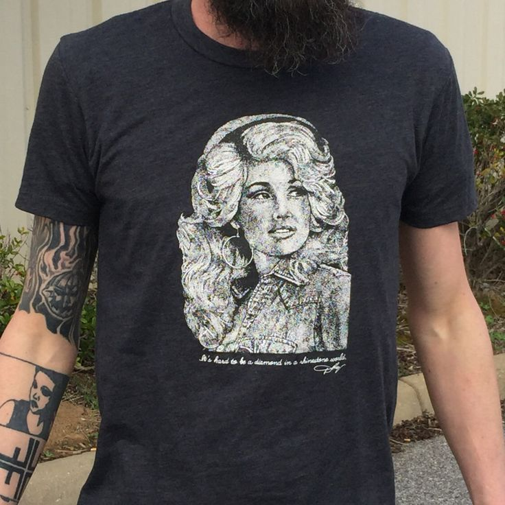 Dolly Parton Unisex/men's T-Shirt (Heather black) by MammothPrintshop on Etsy https://www.etsy.com/listing/206558272/dolly-parton-unisexmens-t-shirt-heather