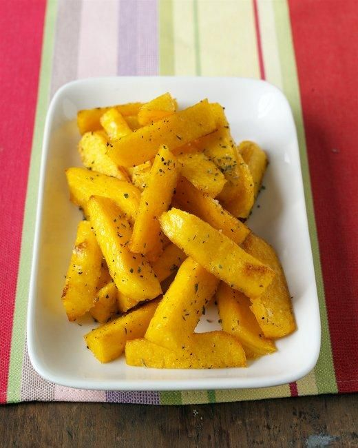 Baked Polenta Fries Recipe Had these at dining out and I am dying to try them at home- even better that these can be done in the oven!