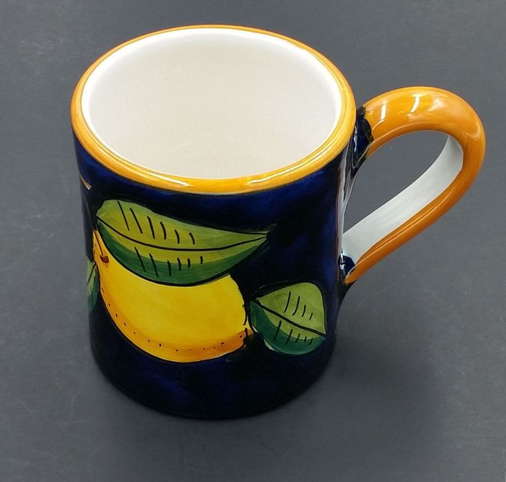 Ravello Italian Pottery Lemons on Cobalt Blue Mug Hand Painted Amalfi Italy | Pottery & Glass, Pottery & China, Art Pottery | eBay!