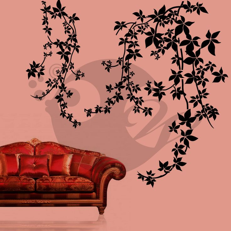 With this Vine Flowers Wall Sticker Decal you can decorate your walls in one of the most modern and elegant ways