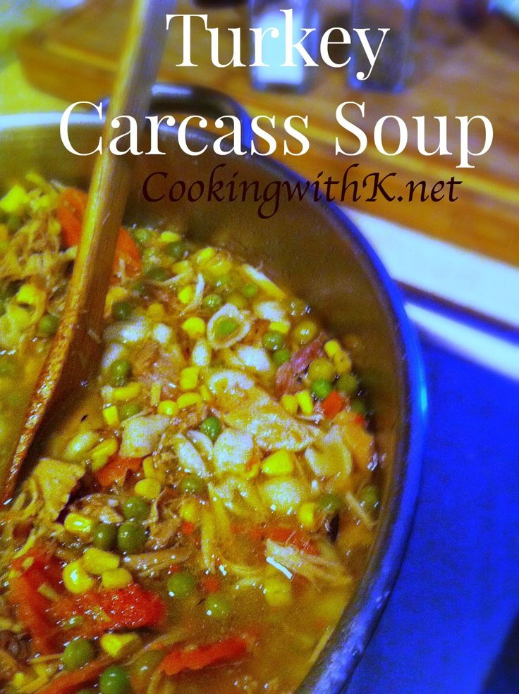Southern | Cooking with K: Turkey Carcass Soup {What to do with Leftover Turkey}