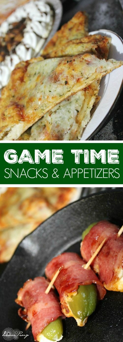 Game Time Snacks and Appetizers! Easy Jalapeño Bacon Wraps and Pepper Poppers for Finger Foods for the Big Game! #TeamPizza #cbias [ad]