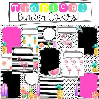 This tropical set comes with 18 editable binder covers and 6 editable spines ( 1, 1.5, and 2 inch) ENJOY! :)