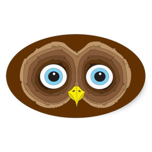 Blue Owl Eyes Stickers