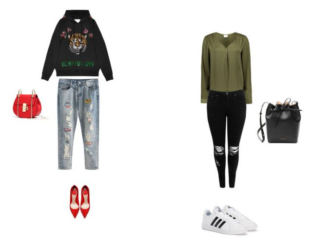 """""""Love"""" by aliza-ahmed on Polyvore featuring Gucci, VILA, Boohoo, adidas and Mansur Gavriel"""