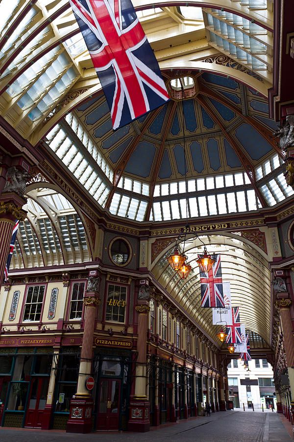 Leadenhall Market ~ one of the oldest markets in London dating back to the 14th century ~ originally a meat, game and poultry market it now has cheesemongers, butchers and florists.