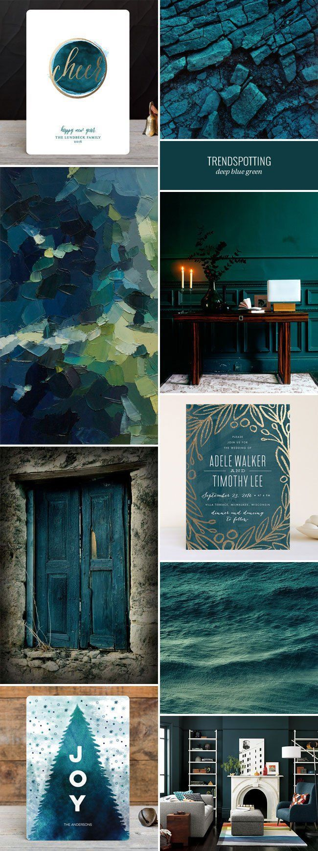Nice 2016 Stationery Color Trends Deep Blue Green