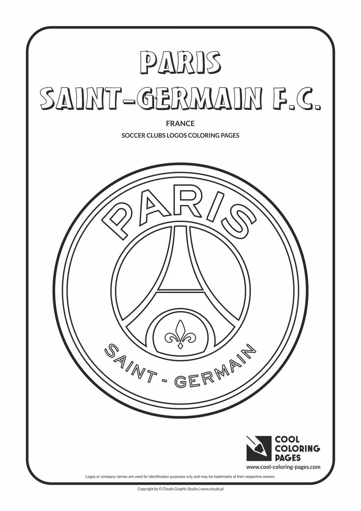 Cool Coloring Pages - Soccer Clubs Logos / Paris Saint-Germain F.C. logo / Coloring page with Paris Saint-Germain F.C. logo