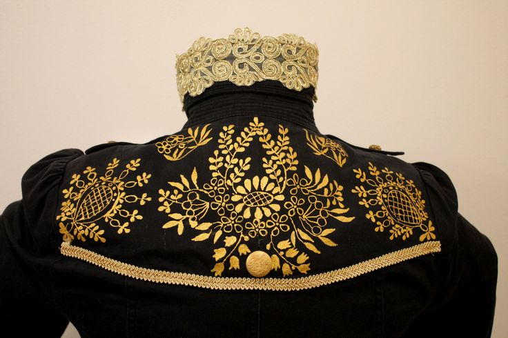 regency spencer with gold painted decoration- detail of back