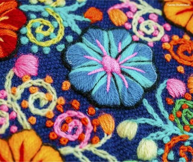 Multicolor, tejido peruano
