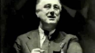 "FDR ""Let Me Warn You"" (1936) short clip. True then and TRUE NOW!!!"