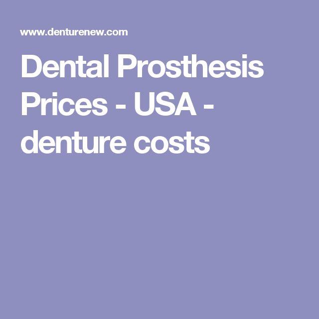 Dental Prosthesis Prices - USA - Miami denture costs 2017