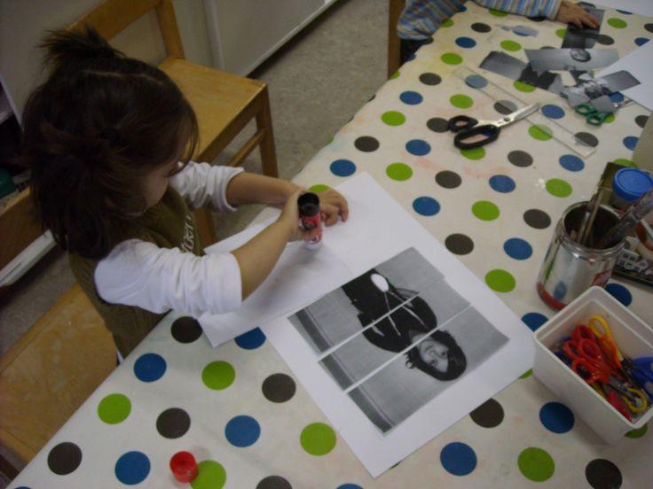 puzzel van jezelf maken: (peuter - 1K) trek een foto van de kleuter, print af, knip in het aantal stukken dat je wil en laat de kleuter de puzzel van zichzelf opnieuw maken.