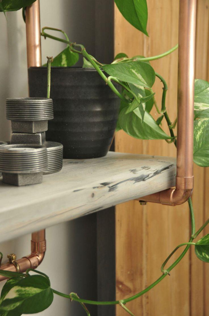 34 best copper shelf images on Pinterest   Copper shelf, Pipe ...
