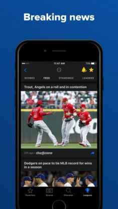 TheScore for iPhone app offers you real-time scores, stats, news coverage, draft details, fantasy news and game-time alerts about every familiar team in NFL Football, MLB Baseball, NBA Basketball, English Premier League Soccer, La Liga Soccer and World Cup.