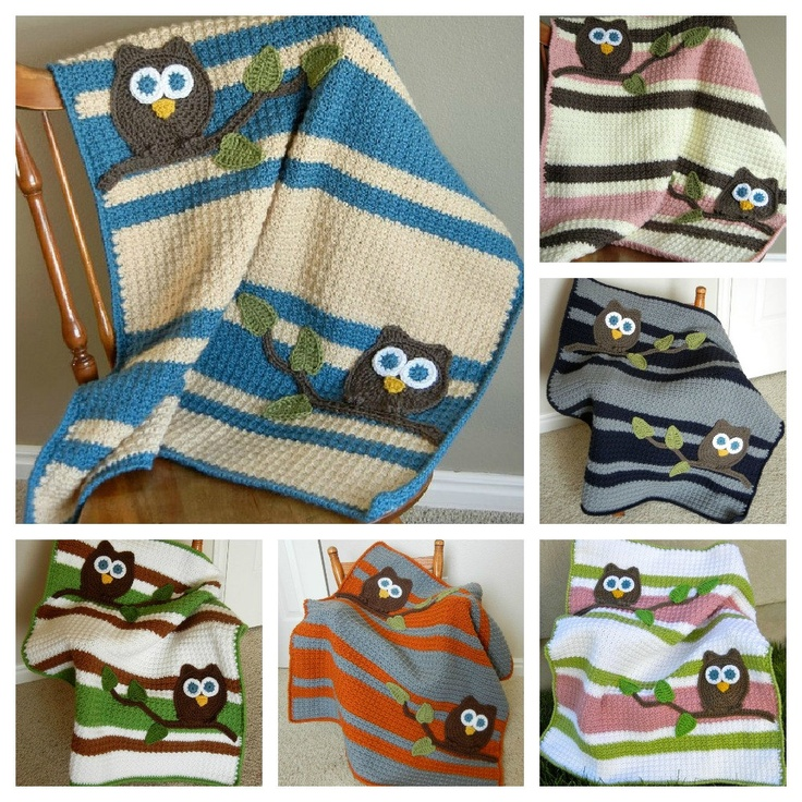 Free Crochet Pattern For Owl Baby Blanket : 1000+ ideas about Owl Baby Blankets on Pinterest Owl ...