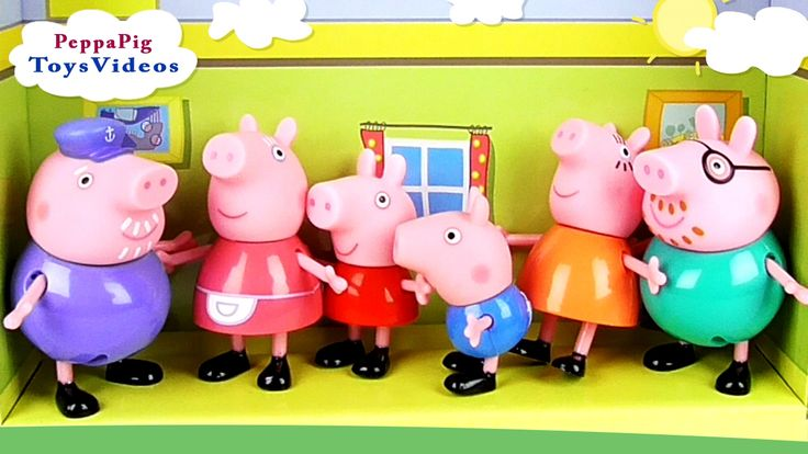 Peppa Pig Spend Time Fun with Family, Granny and Grandpa Toys Video