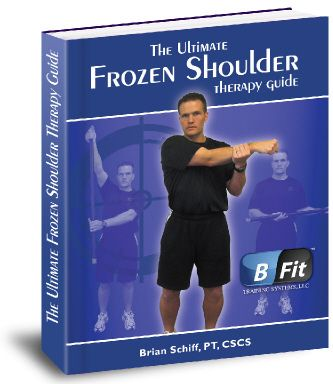 "The Ultimate Frozen Shoulder Therapy Guide.  ""Easy To Follow Low Pain Exercises To Get Your Shoulder Feeling And Moving Great Again.""  Developed by Nationally Recognized   Physical Therapist with 14 years of shoulder healing experience, Brian Schiff.  $29.95"