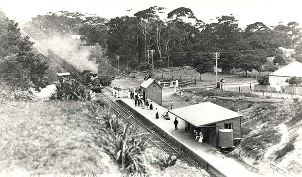 Austinmer Railway Station, South Coast. Dated: c. 1914