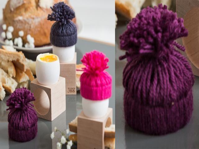 Déco de table pour Pâques : faire des bonnets pour ses oeufs