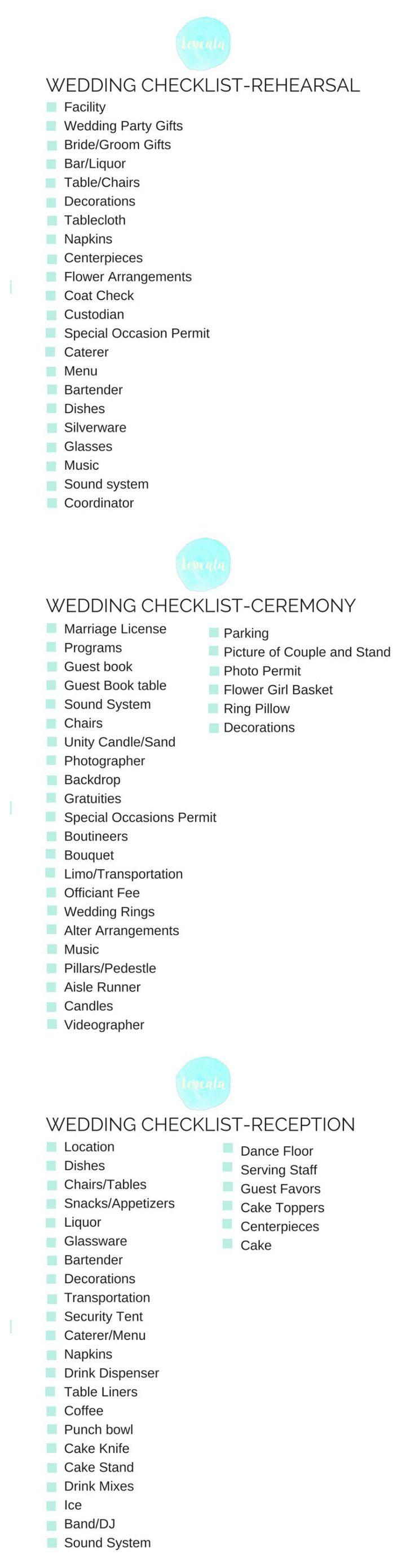 17 Best ideas about Wedding Coordinator Checklist on Pinterest ...