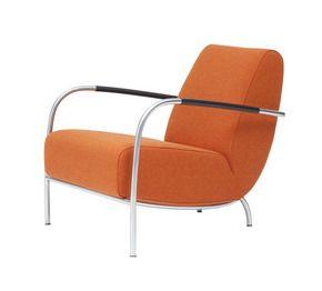 columbus harvink rikken dronten fauteuil oranje rvs frame