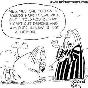 Image result for mother-in-law demon cartoon