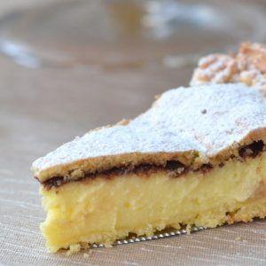 Crostata Pasticciotto con crema pasticcera e cioccolato