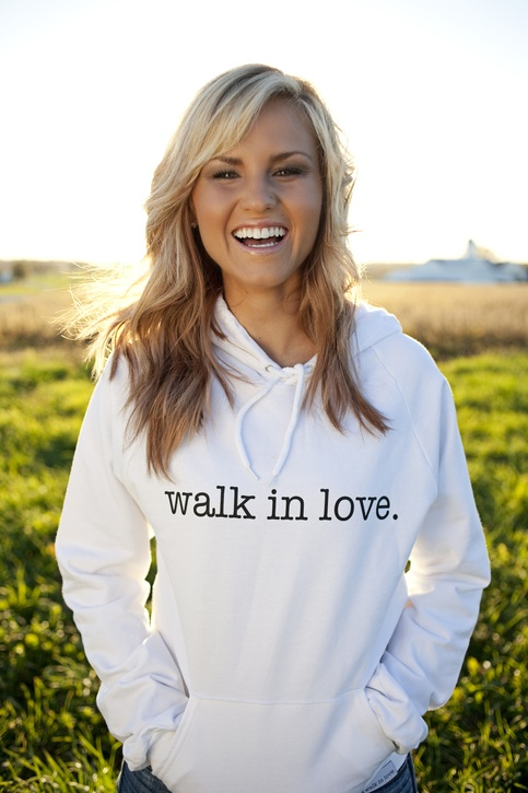 a great new clothing company called walk in love. (spreading gods love all around)